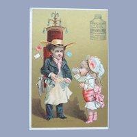 Vintage French Advertising Elixor Trade Card