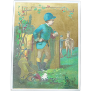 Vintage Children and Horse Advertising Trade Card