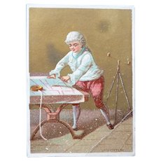 Vintage French Sewer Victorian Advertising Trade Card