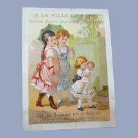 Vintage Children and Doll Advertising Trade Card