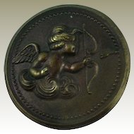 Beautiful Vintage Angel Button