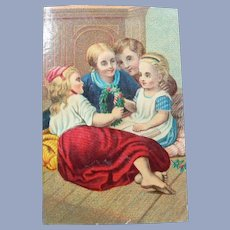 Vintage Victorian Paper Trade Card for Doll Display