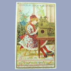Vintage French Trade Card for Doll Display