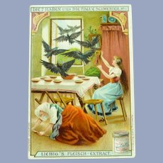 Vintage French Fairy Tale Trade Card for Doll Display