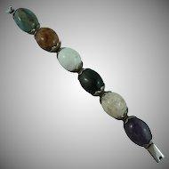 Impressive Taxco Sterling Agate Bracelet