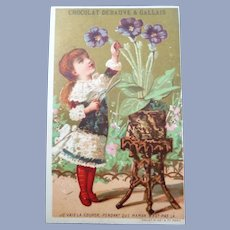 vinyage Victorian Trade Card for Doll Display