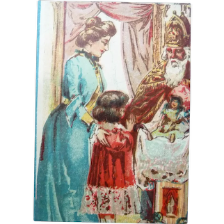 Vintage Victorian French Christmas paper scrap for Doll Display