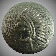 Vintage Native Chief Button