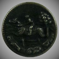 Small Vintage Horse and Rider Button