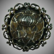 Large Vintage Heraldry Button
