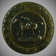Vintage Brass Sporting Horse Button