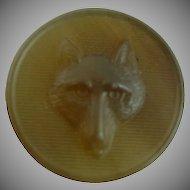 Vintage Horn Fox Button