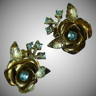 Lovely Coro Flower Earrings