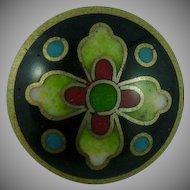 Beautiful Vintage Cloisonne Button