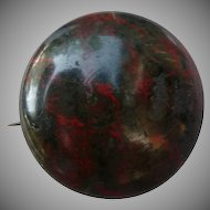 Victorian Agate Pin