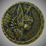 Large Vintage Angel on a Wall Button