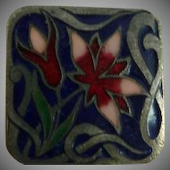 Lovely Enamel Art Nouveau Button