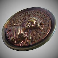 Large Theatrical Antique Button from the Mikado