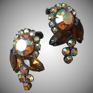 Beautiful Amber Toned Juliana Earrings