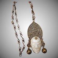 Dynamic Vintage Mexican Pendant/Necklace