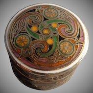 Wonderful Vintage Celtic Design Trinket Box