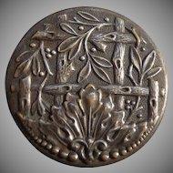 Beautiful Large Art Nouveau Button