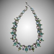 Beautiful Vintage Pastel Crystal Necklace