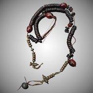 Vintage Agate Tibetan Prayer Beads