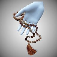 Natural Vintage Carved Stone Prayer Beads