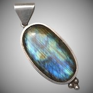 Vintage Sterling and Labradorite Pendant