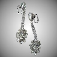 Gorgeous Napier Rhinestone Earrings