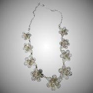 Vintage Mexican Filigree Silver Necklace