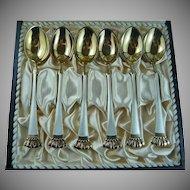 Regal Set of Enamel Demitasse Spoons