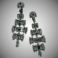 Beautiful Japanned Crystal earrings