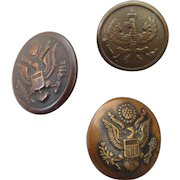 Three World War Two Military Buttons