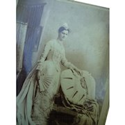 Vintage Victorian Photographic Advertising Cabinet Postcard