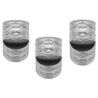 Set of 6 Sterling Silver Gorham Strasbourg Napkin Rings 1150 Excellent Condition