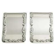Set of 2 S.Kirk & Son Sterling Silver Napkin Clips Holders 27