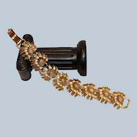 Floral Link Bracelet 7.5 inches