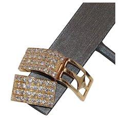 14K Gold Cubic Zirconia CZ Pierced Earrings