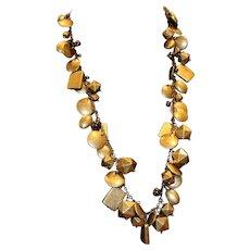 Joan Rivers Gold Tone Multi-Shape Necklace