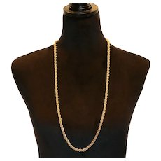 Christian Dior Rope Necklace 35 inches