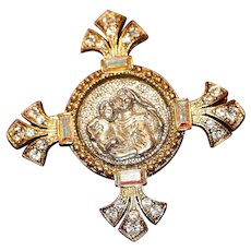 Vatican Library Madonna & Child Pin Brooch Reproduction