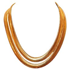 Joan Rivers Double-Strand Omega Chain Necklace