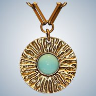 Gerard Yosca Statement Pendant Necklace NOS with tag