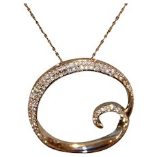 Crystal Infinity Pendant Necklace w Chain