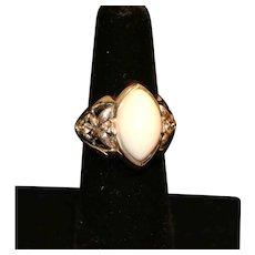 Ann King Sterling Agate Sapphire Ring