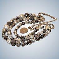 Glam Boho Ethnic 3-Strand Necklace