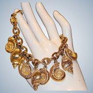 Anne Klein Sea Shell Charm Bracelet