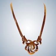 Napier Gold Tone Medallion Necklace